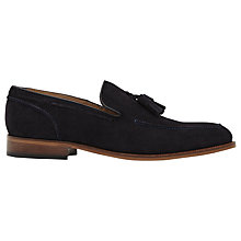Buy Reiss Patrick Suede Tasselled Loafers, Black Online at johnlewis.com