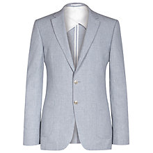 Buy Reiss Monty Linen Cotton Blazer, Soft Blue Online at johnlewis.com