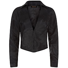 Buy Jaeger Brocade Cropped Jacket, Black Online at johnlewis.com