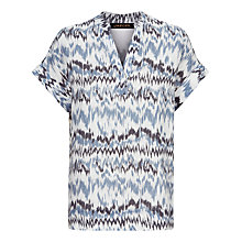 Buy Jaeger Zip Zag Print Top, Multi Online at johnlewis.com