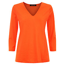 Buy Jaeger Jersey V Neck Top, Orange Online at johnlewis.com