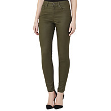 Buy Reiss Stevie Coated Low Rise Skinny Jeans, Olive Online at johnlewis.com