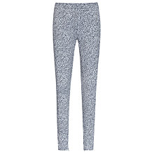 Buy Reiss Lucille Jacquard Trousers, Blue Online at johnlewis.com
