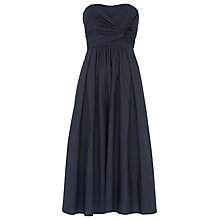 Buy Whistles Bardot Tie Poplin Dress, Navy Online at johnlewis.com
