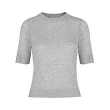 Buy Whistles Rib Hem Slim T-Shirt Online at johnlewis.com