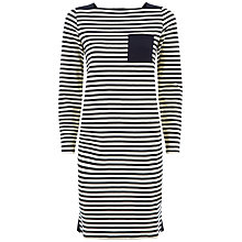 Buy Jaeger Piquet Stripe Dress, Multi Online at johnlewis.com