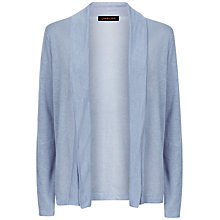 Buy Jaeger Linen Cardigan, Blue Online at johnlewis.com