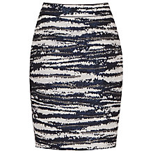 Buy Reiss Odell Jacquard Pencil Skirt, Off White/Midnight Online at johnlewis.com