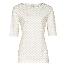 Buy Reiss Deco Top, Off White Online at johnlewis.com