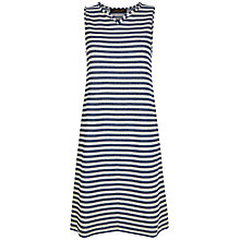 Buy Jaeger Textured Stripe Jersey Dress, White/Blue Online at johnlewis.com