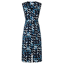 Buy Jigsaw Waterpool Spotted Linen Dress, Blue Online at johnlewis.com