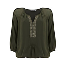 Buy Mint Velvet Sequin Blouson Top Online at johnlewis.com