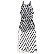 Buy Whistles Pleated Print Strappy Dress, Multicolour Online at johnlewis.com
