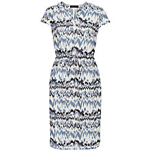 Buy Jaeger Zig Zag Print Dress, Multi Online at johnlewis.com