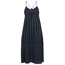 Buy Whistles Maria Linen Swing Check Dress, Navy Online at johnlewis.com