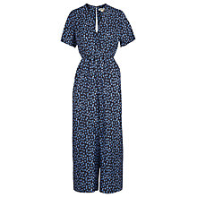 Buy Whistles Star Print Buena Silk Jumpsuit, Blue/Multi Online at johnlewis.com