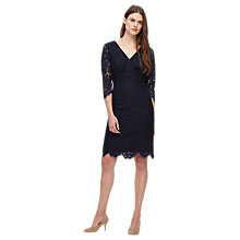 Buy Jigsaw Atlantic V Neck Dress, Atlantic Blue Online at johnlewis.com