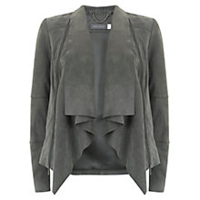 Buy Mint Velvet Suede Zip Jacket, Mid Grey Online at johnlewis.com