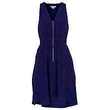 Buy Whistles Zip Front Dress, Navy Online at johnlewis.com
