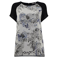 Buy Mint Velvet Laila Silk Print T-Shirt, Multi Online at johnlewis.com