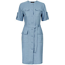 Buy Jaeger Waist Tie Dress, Blue Online at johnlewis.com