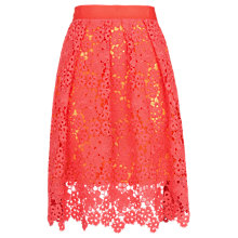 Buy Whistles Meadow Lace Skirt, Pink Online at johnlewis.com