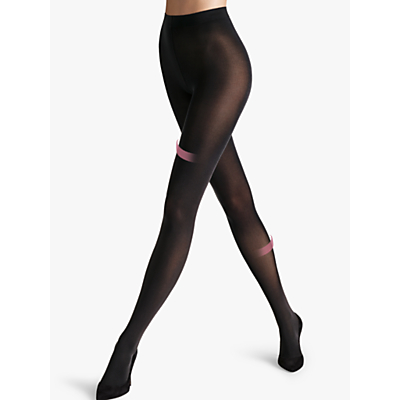 Wolford 50 Denier Individual Leg Support Opaque Tights, Black