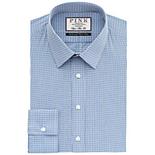 Buy Thomas Pink Macy Check Super Slim Fit Shirt, Blue/White Online at johnlewis.com