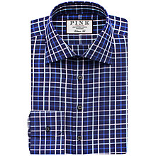 Buy Thomas Pink Meyers Classic Fit Check Shirt, Navy/Pink Online at johnlewis.com