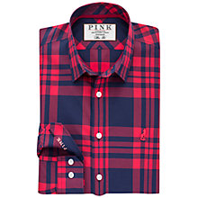 Buy Thomas Pink Keston Check Slim Fit Shirt, Navy/Red Online at johnlewis.com
