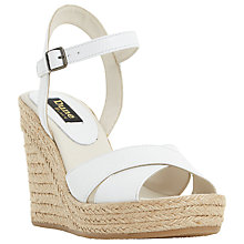 Buy Dune Black Kayden Wedge Leather Sandals Online at johnlewis.com