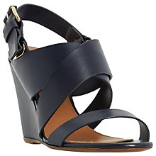 Buy Dune Black Kylar Wedge Heeled Sandals Online at johnlewis.com