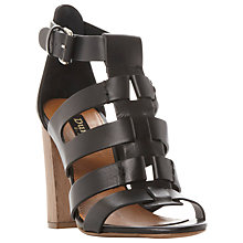Buy Dune Black Jagger Multi Strap Block Heeled Sandals Online at johnlewis.com