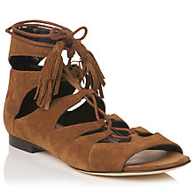 Buy L.K. Bennett Gem Lace Up Sandals, Tabacco Online at johnlewis.com