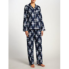 Buy John Lewis Leyla Floral Pyjama Set, Blue Online at johnlewis.com