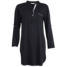 Buy Cyberjammies Timeless Elegance Striped Nightshirt, Black/White Online at johnlewis.com