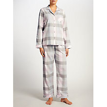Buy John Lewis Jane Check Pyjamas, Grey/Pink Online at johnlewis.com