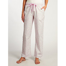 Buy John Lewis Heart Print Pyjama Bottoms, Ivory/Pink Online at johnlewis.com