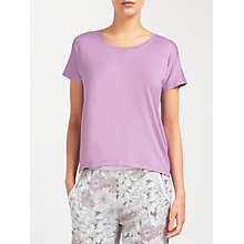 Buy John Lewis Jersey Cap Sleeve Top, Lilac Online at johnlewis.com