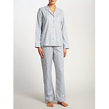 Buy John Lewis Heart Print Pyjama Set, Grey/Ivory Online at johnlewis.com
