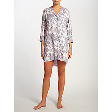 Buy John Lewis Paige Floral Nightshirt, Ivory/Lilac Online at johnlewis.com