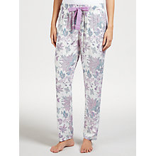 Buy John Lewis Paige Floral Pyjama Bottoms, Ivory/Lilac Online at johnlewis.com