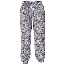 Buy Fat Face Girls' Doodle Print Beach Trousers, Light Navy Online at johnlewis.com