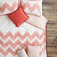 Buy The Jay St. Block Print Company Ashland Bedding, Salmon Online at johnlewis.com