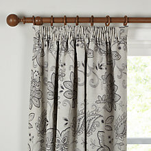 Buy John Lewis Brompton Floral Lined Pencil Pleat Curtains Online at johnlewis.com