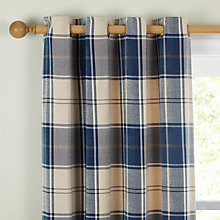 Buy John Lewis Ludlow Check Lined Eyelet Curtains Online at johnlewis.com
