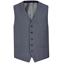 Buy Jaeger Wool Mohair Modern Fit Waistcoat, Chambray Online at johnlewis.com