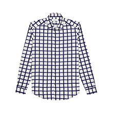 Buy Reiss Barcelona Abstract Check Slim Fit Shirt, Blue Online at johnlewis.com