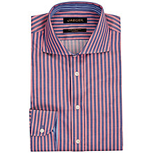 Buy Jaeger Highlight Stripe Modern Shirt, Navy/Pink Online at johnlewis.com
