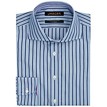 Buy Jaeger Bold Dark Stripe Slim Fit Shirt, Blue Online at johnlewis.com